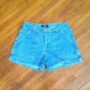 America Eagle High Waisted Dungaree Shorts